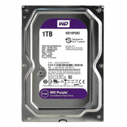 Жесткий диск WD PURPLE 1TB, 5400 об/мин, 64 Мб